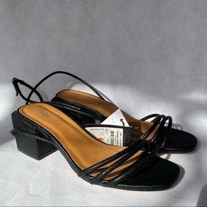 Rubi Black Square Heel Sandals Size 7 Open Toe